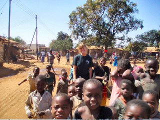 Emily Yarbrough and the children of Malawi, Africa
